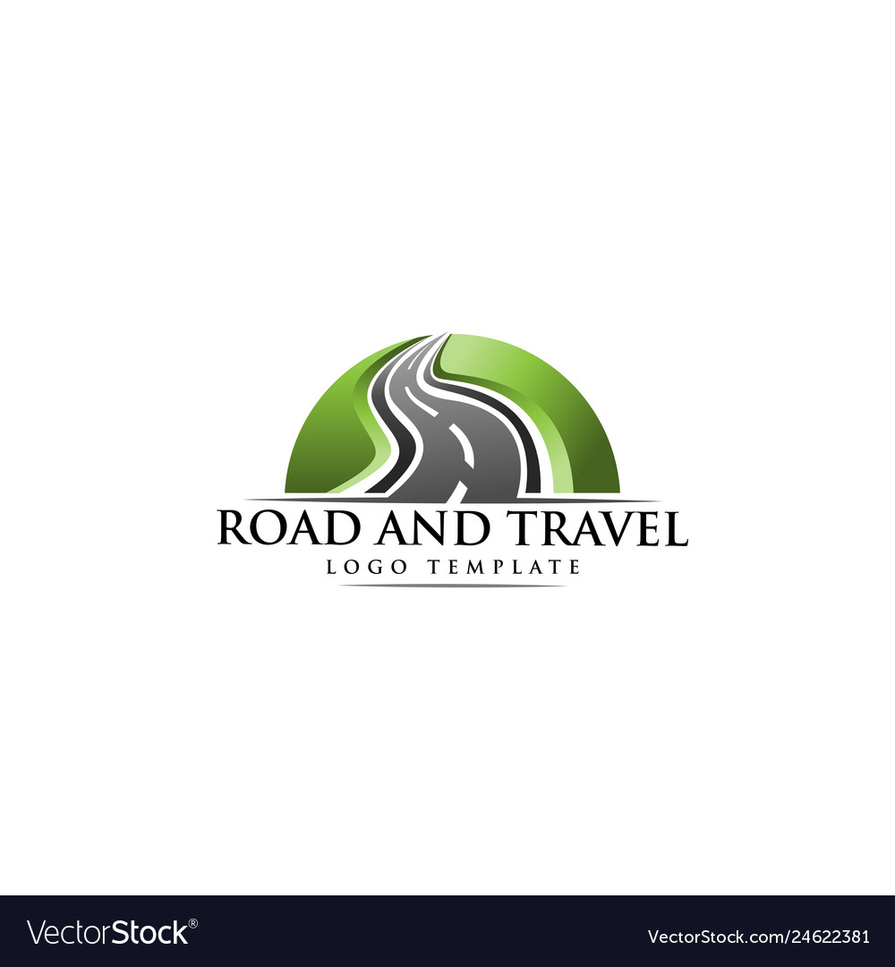 Road construction creative logo