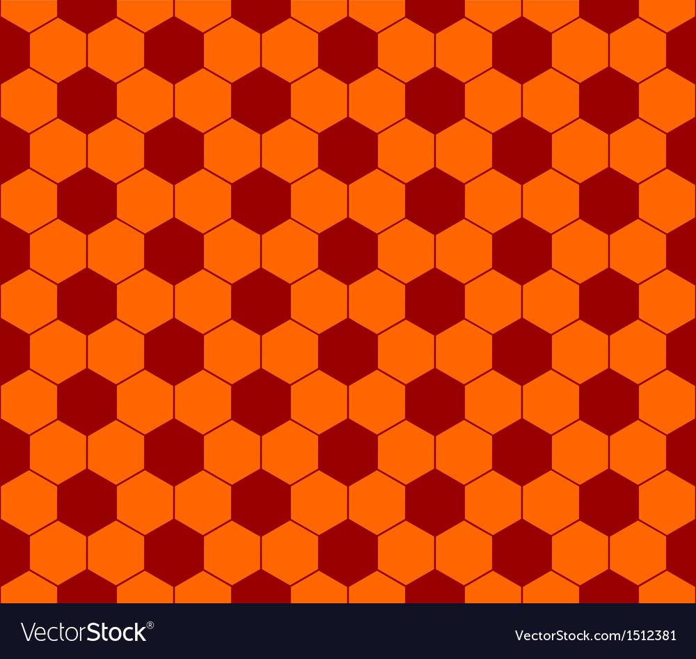 Seamless football pattern red orange EPS 10