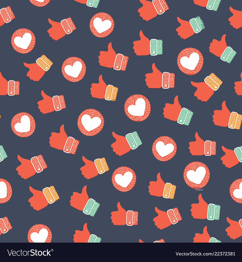Thumb up seamless background