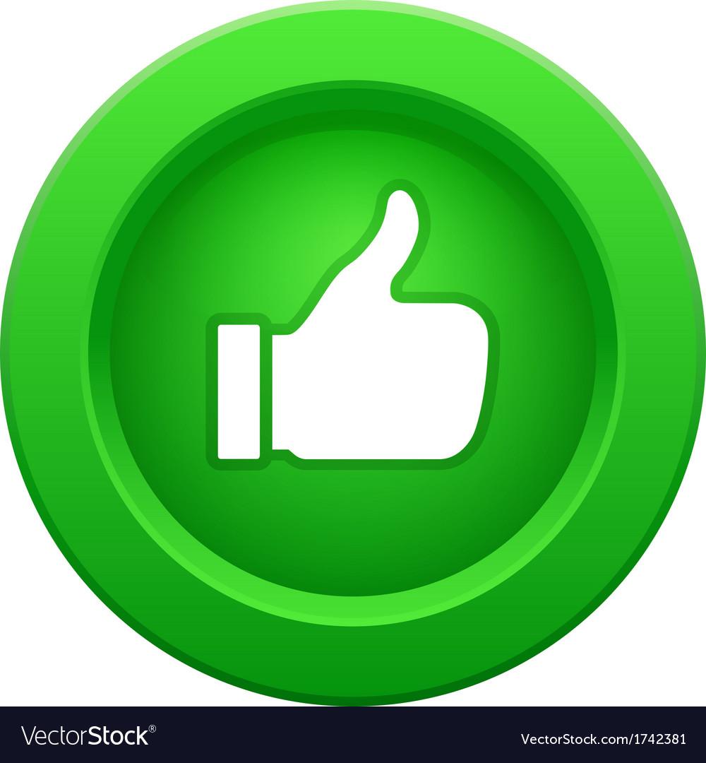 Thump up green button
