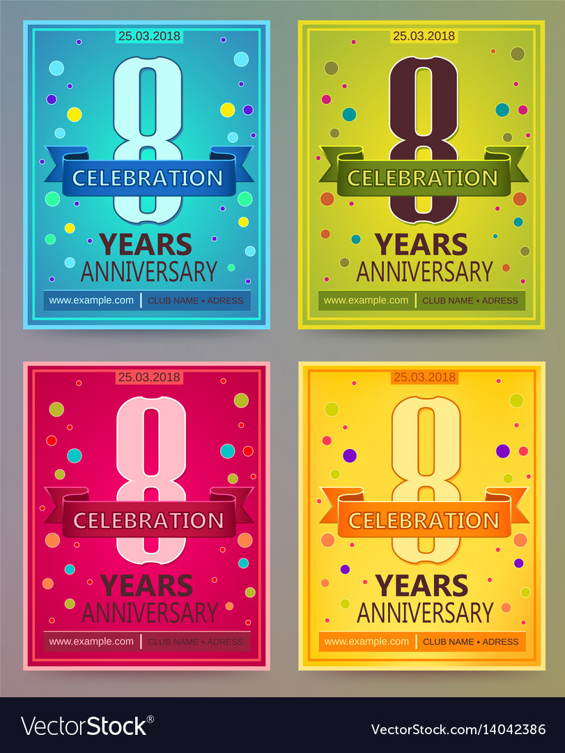 Anniversary flyers or invitations templates vector image stopboris Gallery