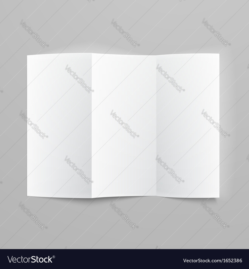 blank trifold paper z folded brochure royalty free vector