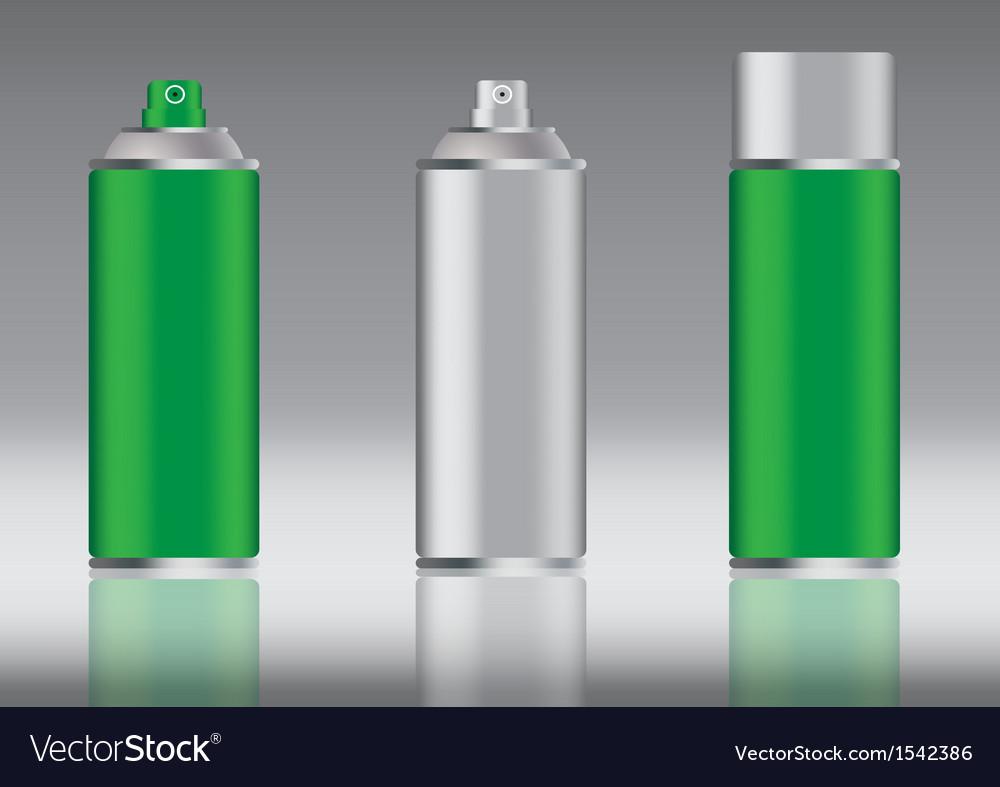 Green spray can
