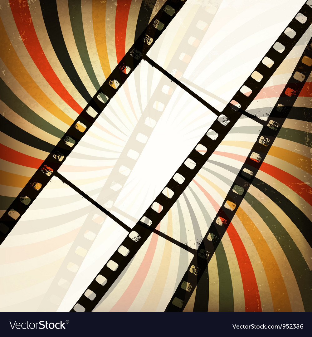 Grunge retro cinema background vector image