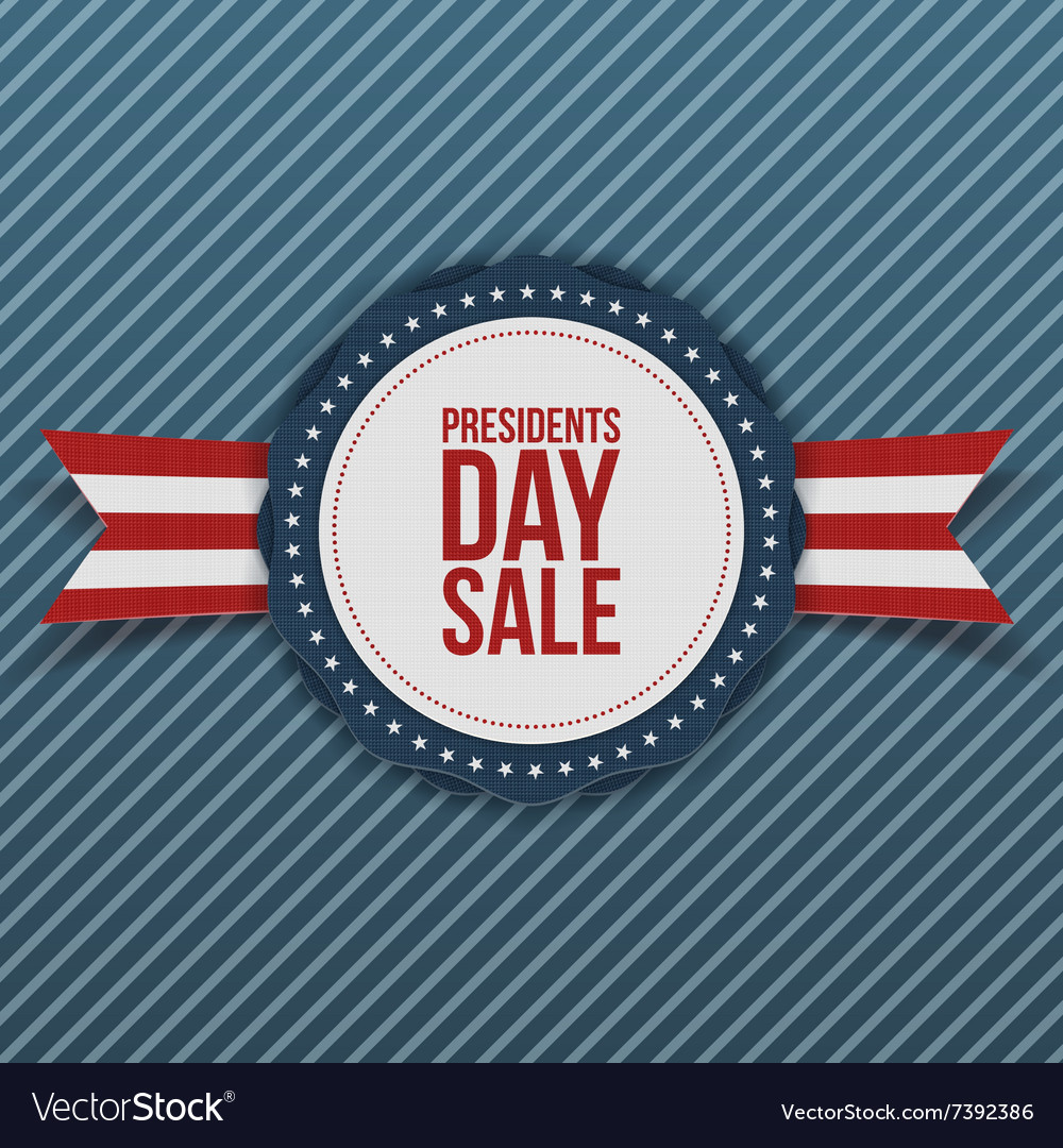 Presidents Day Sale white and blue Banner