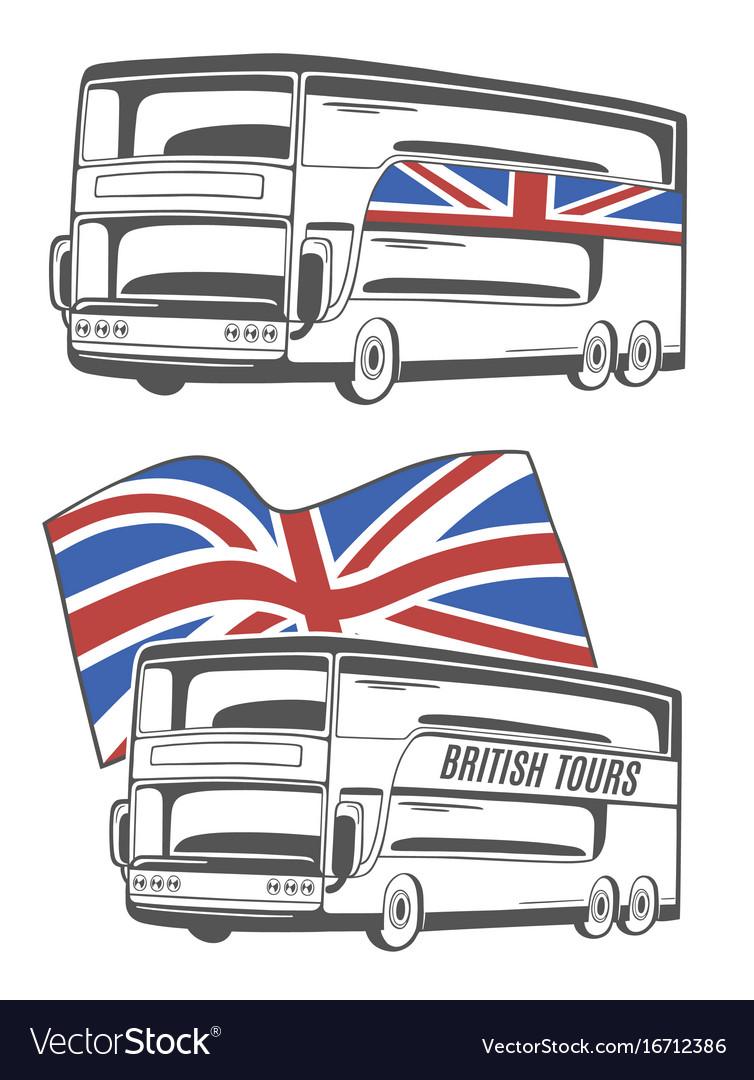 Tourist bus with union jack