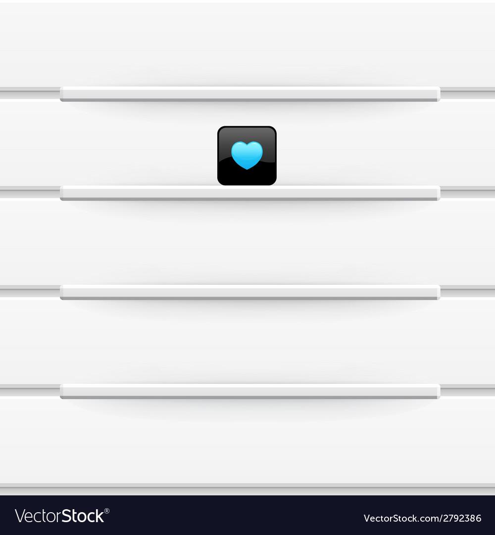 White shelves template for your design