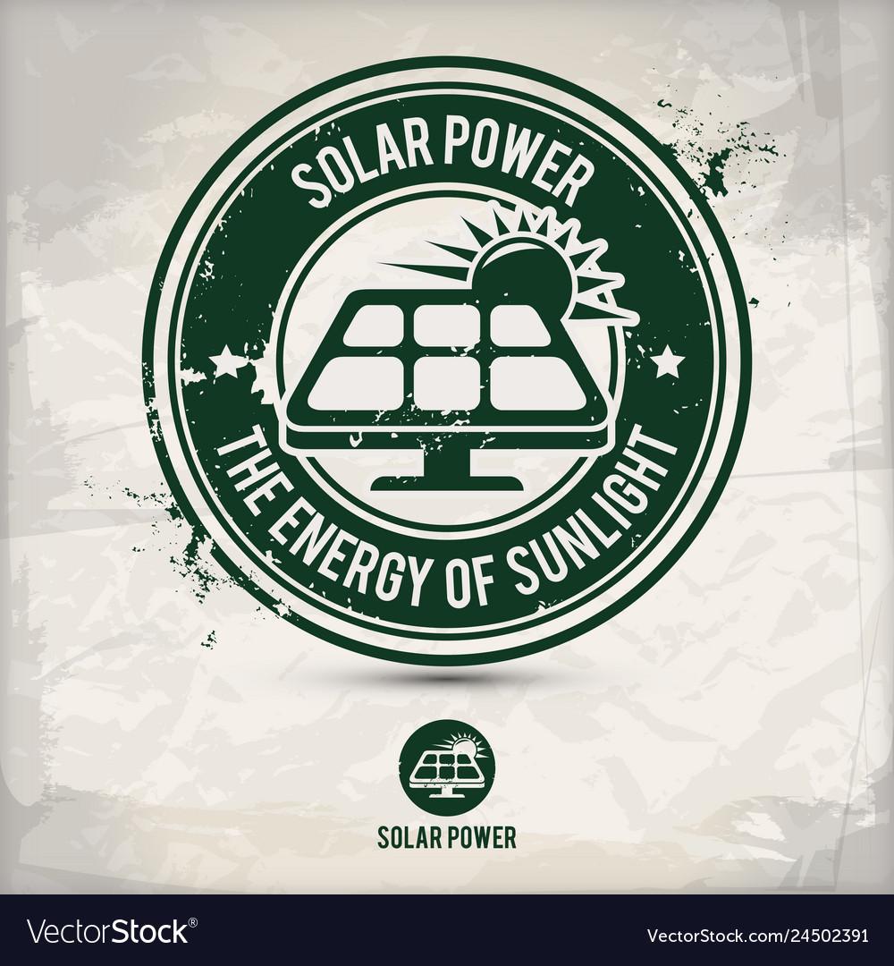Alternative solar power stamp