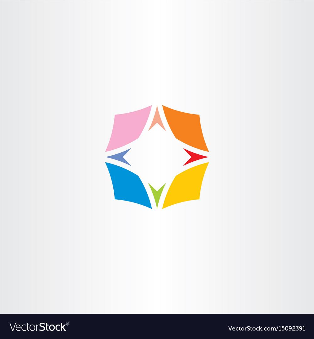 Compass symbol colorful icon logo