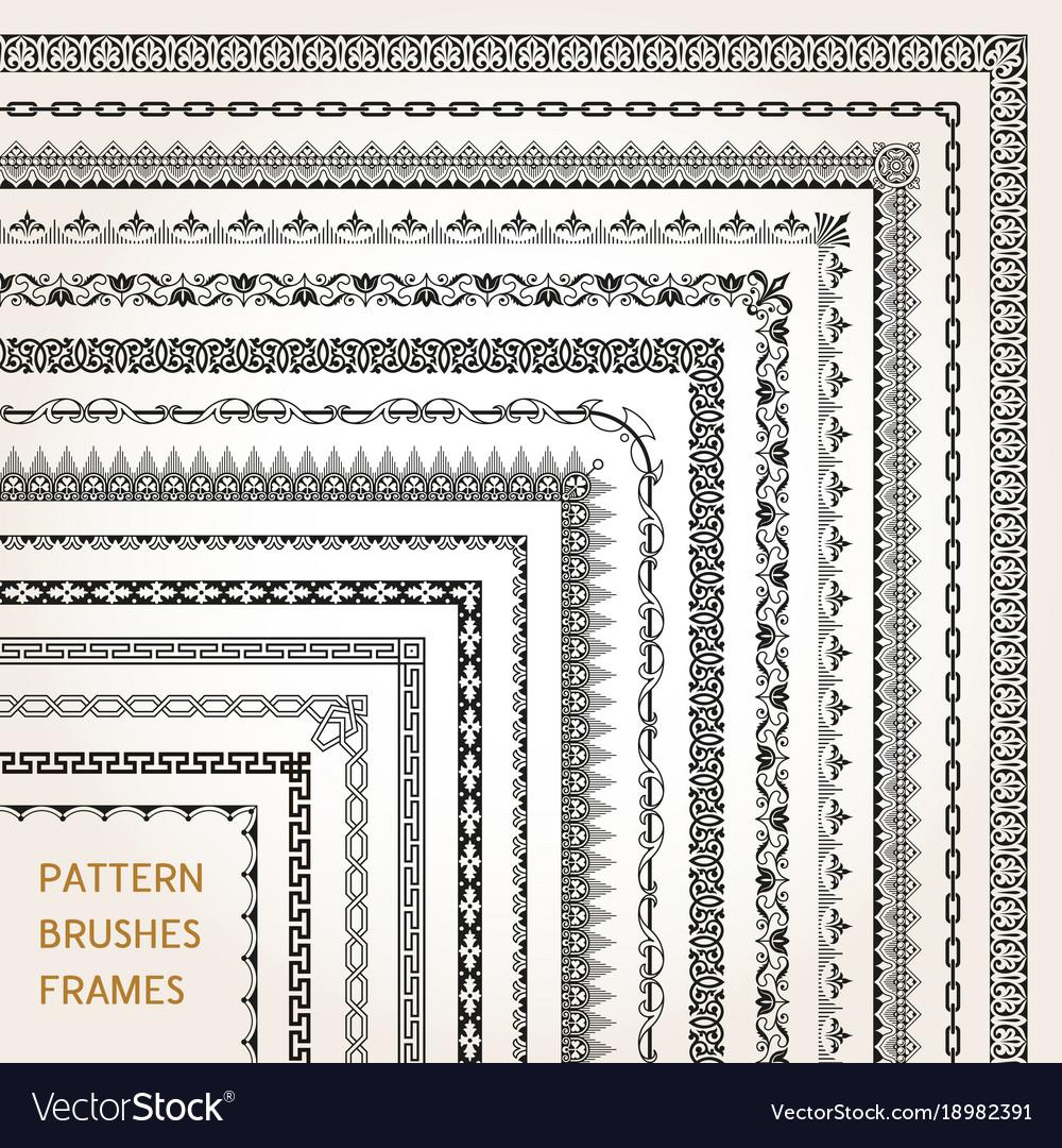 Corner border frame line pattern brushes 1