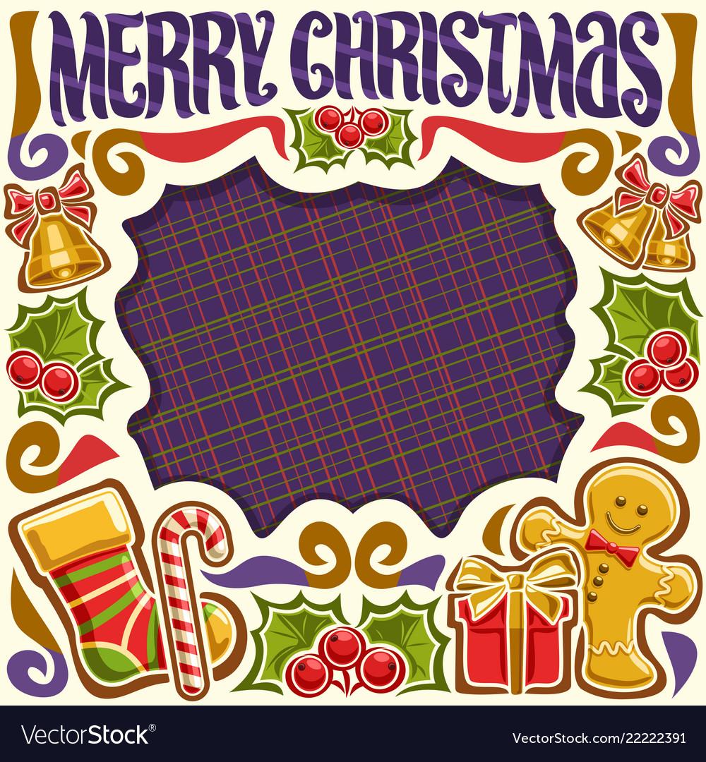 Frame for merry christmas