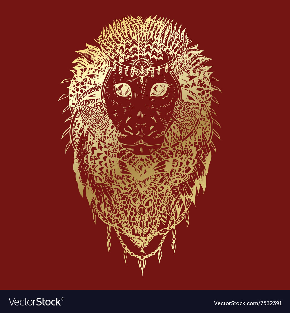 Graphic monkey abstract design