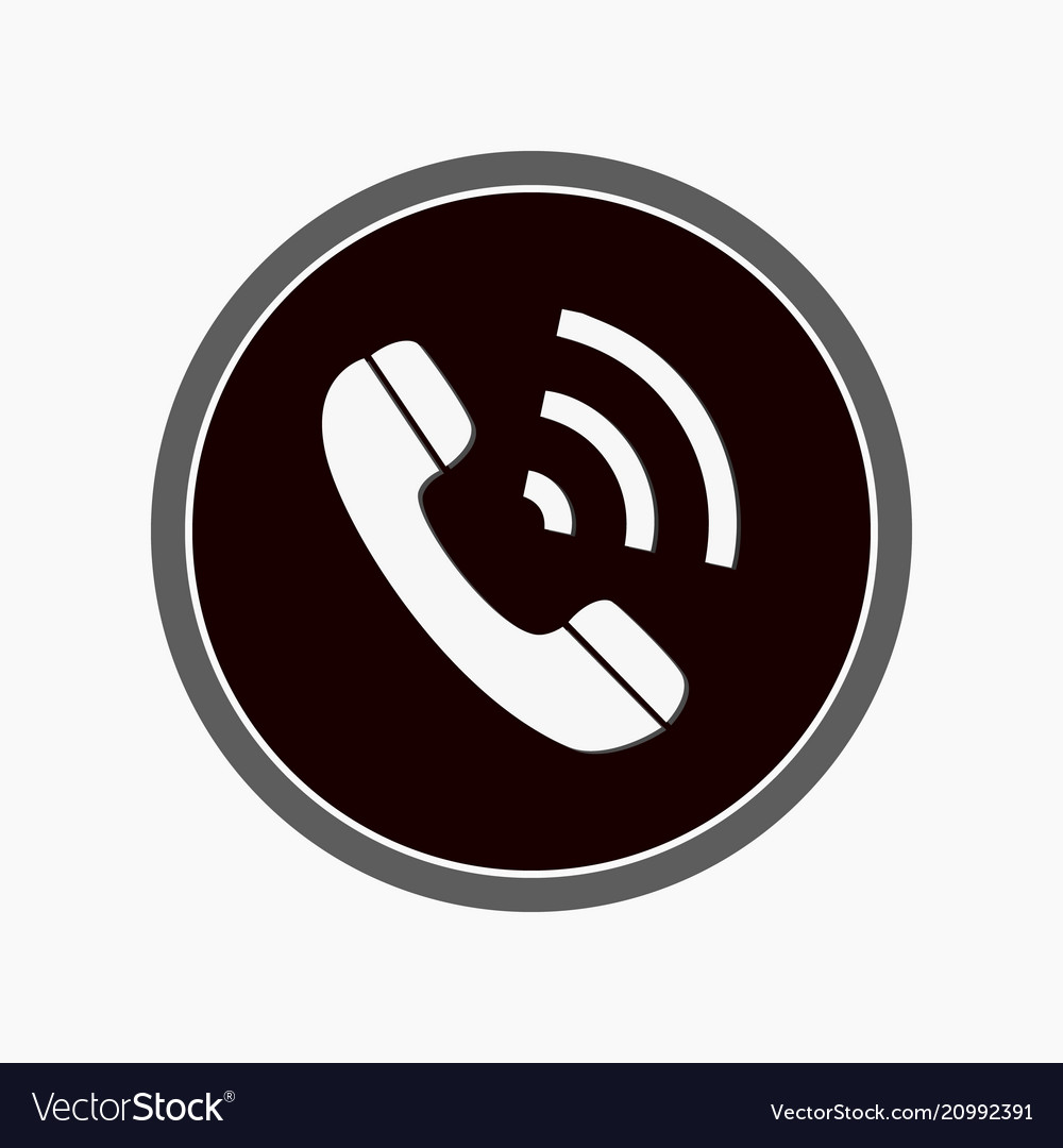 Im instant messenger phone handset icon with
