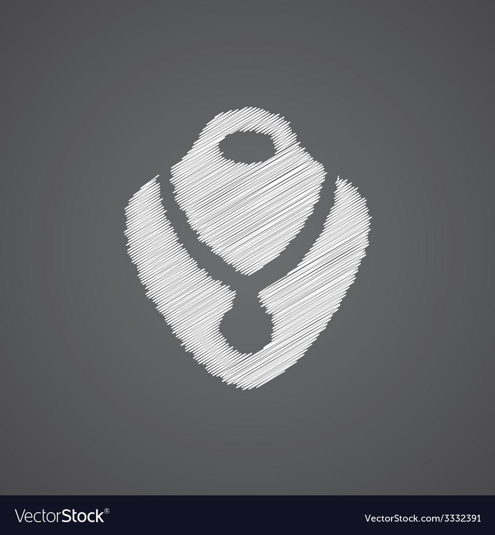 Necklace sketch logo doodle icon