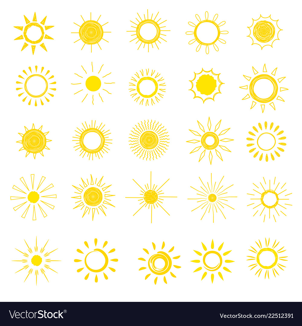 Sun sunny icon with yellow sunlight and