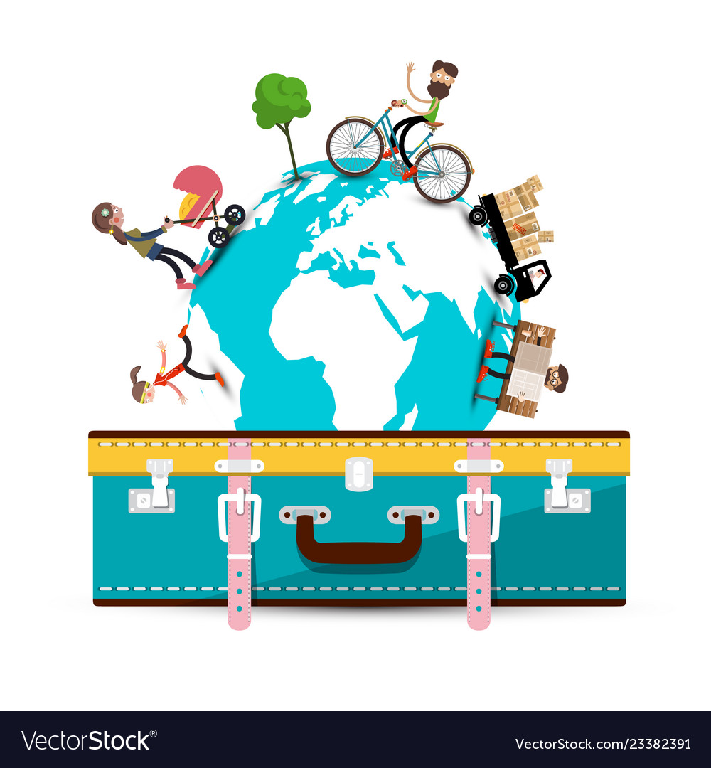 Travelling around the world travel concept with