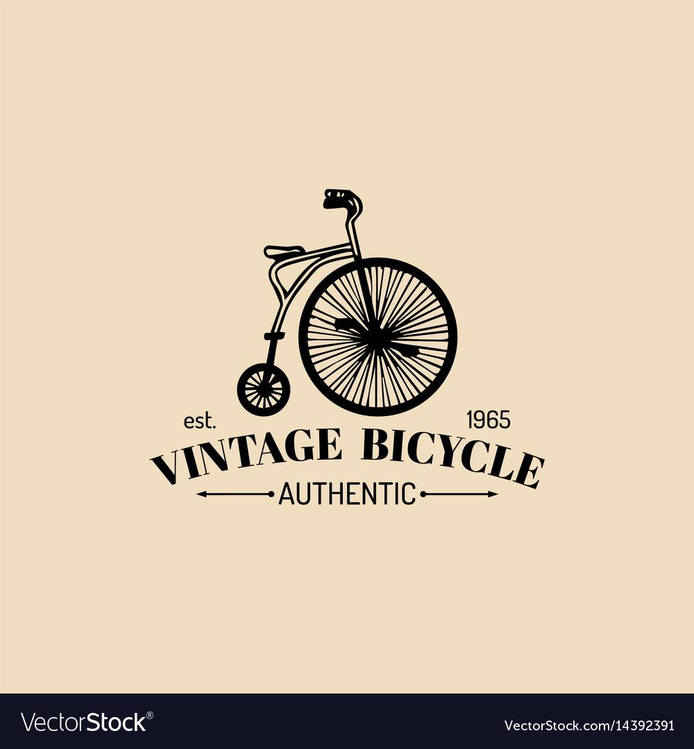 Vintage hipster bicycle logo retro