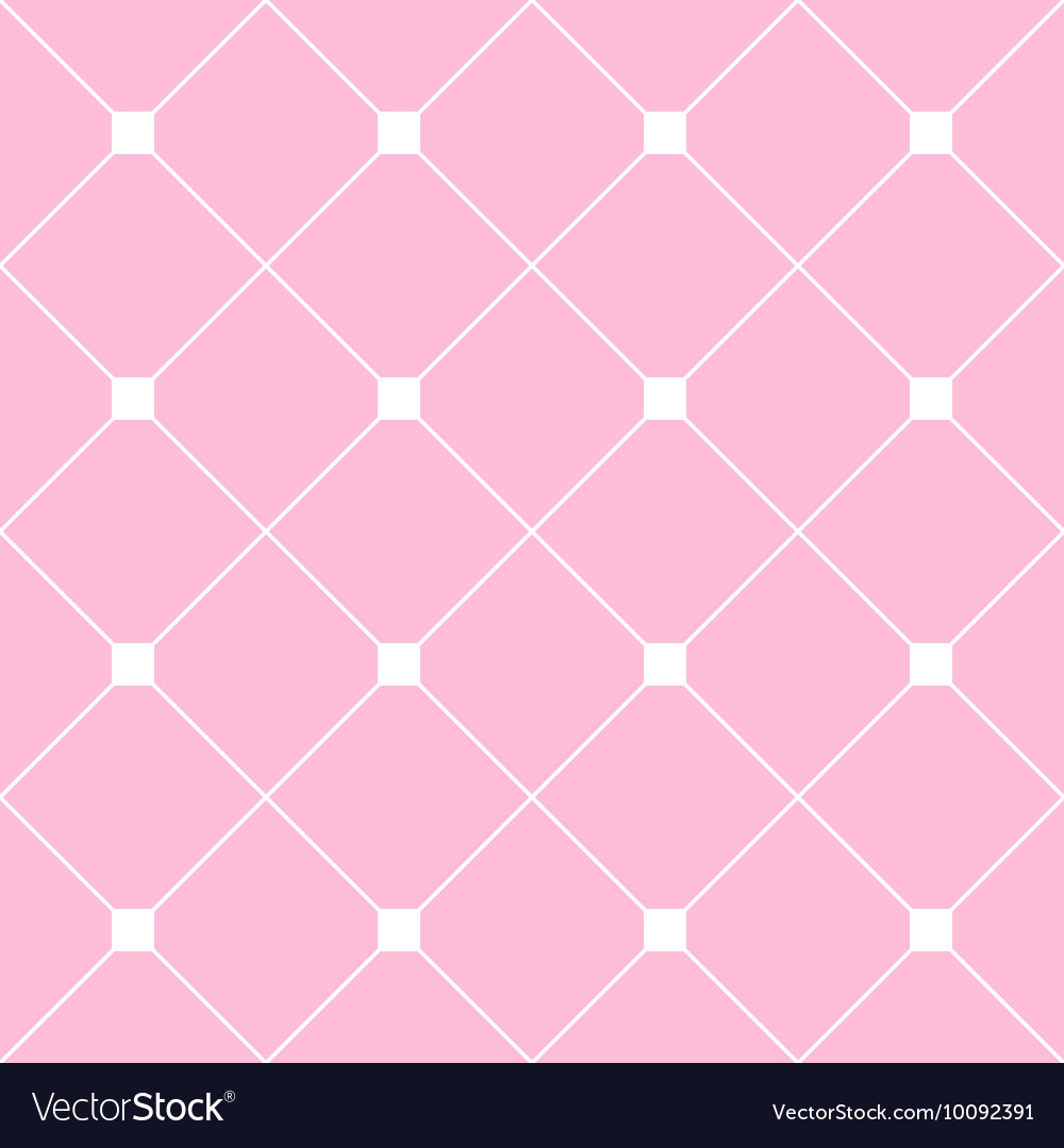 White Square Diamond Grid Light Pink Background vector image
