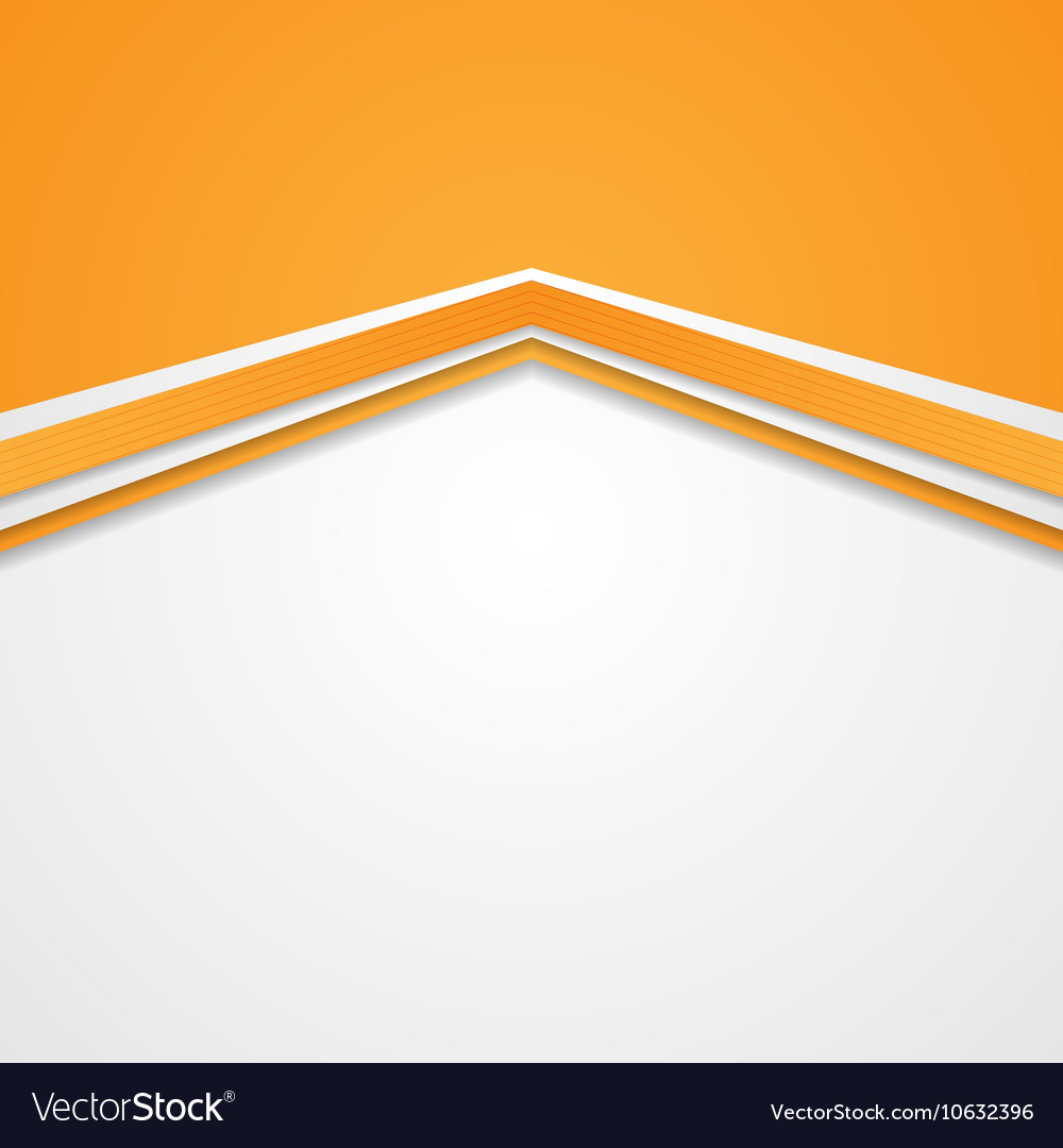 Abstract tech corporate orange background