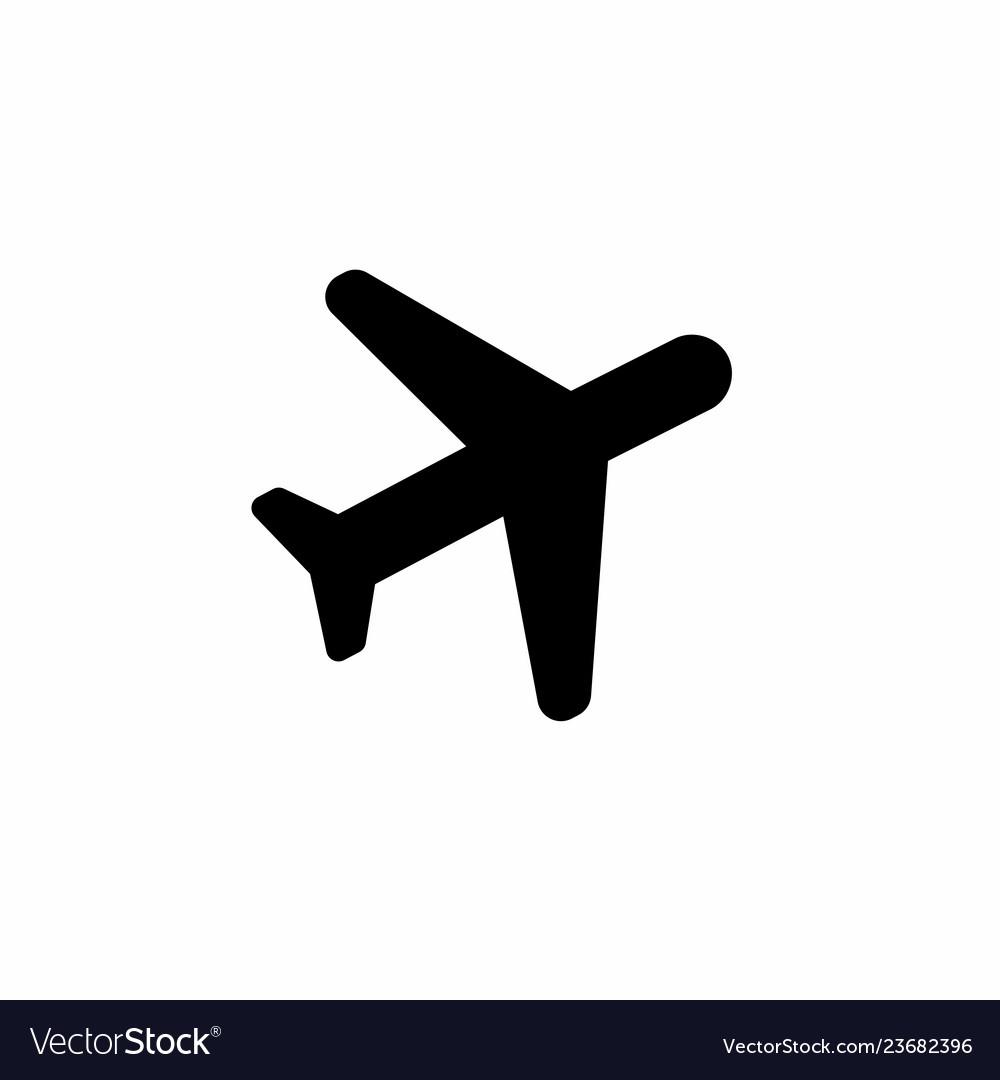 Black Plane Icon Royalty Free Vector Image Vectorstock