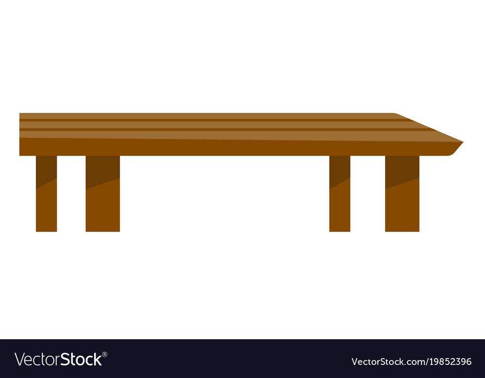 Brown Coffee Table Cartoon Vector Image