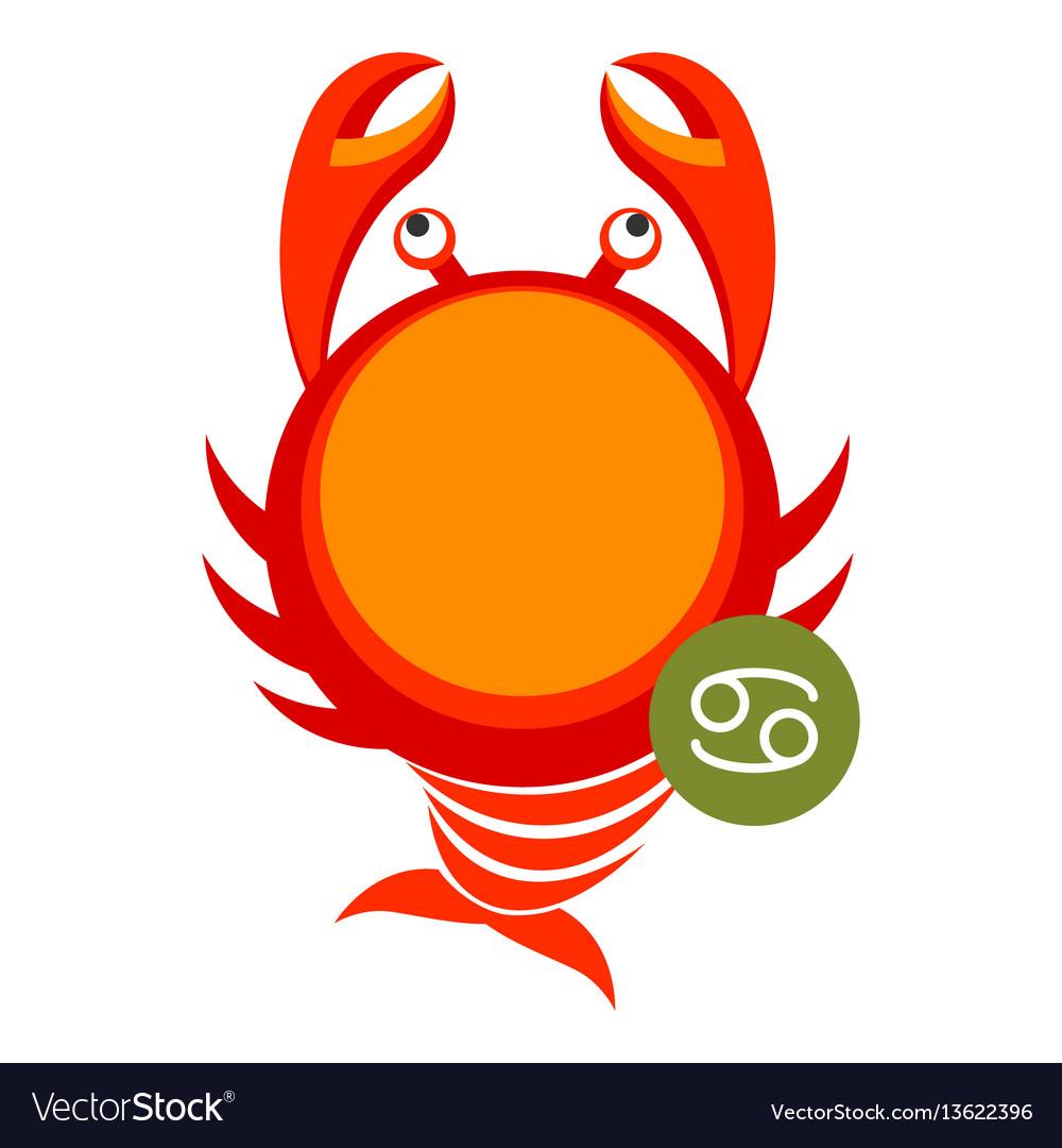 Cancer astrology sign isolated on white horoscope