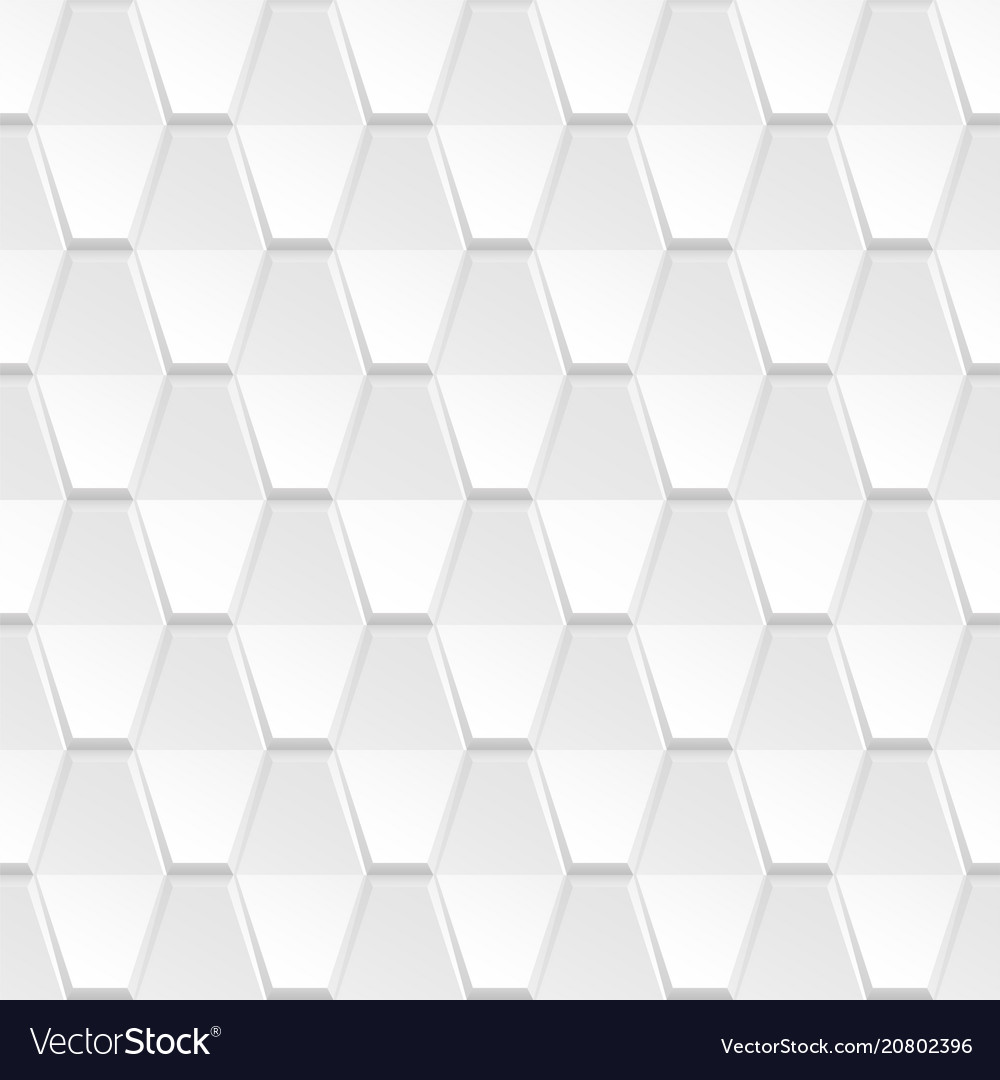 Decorative white geometric texture - 3d