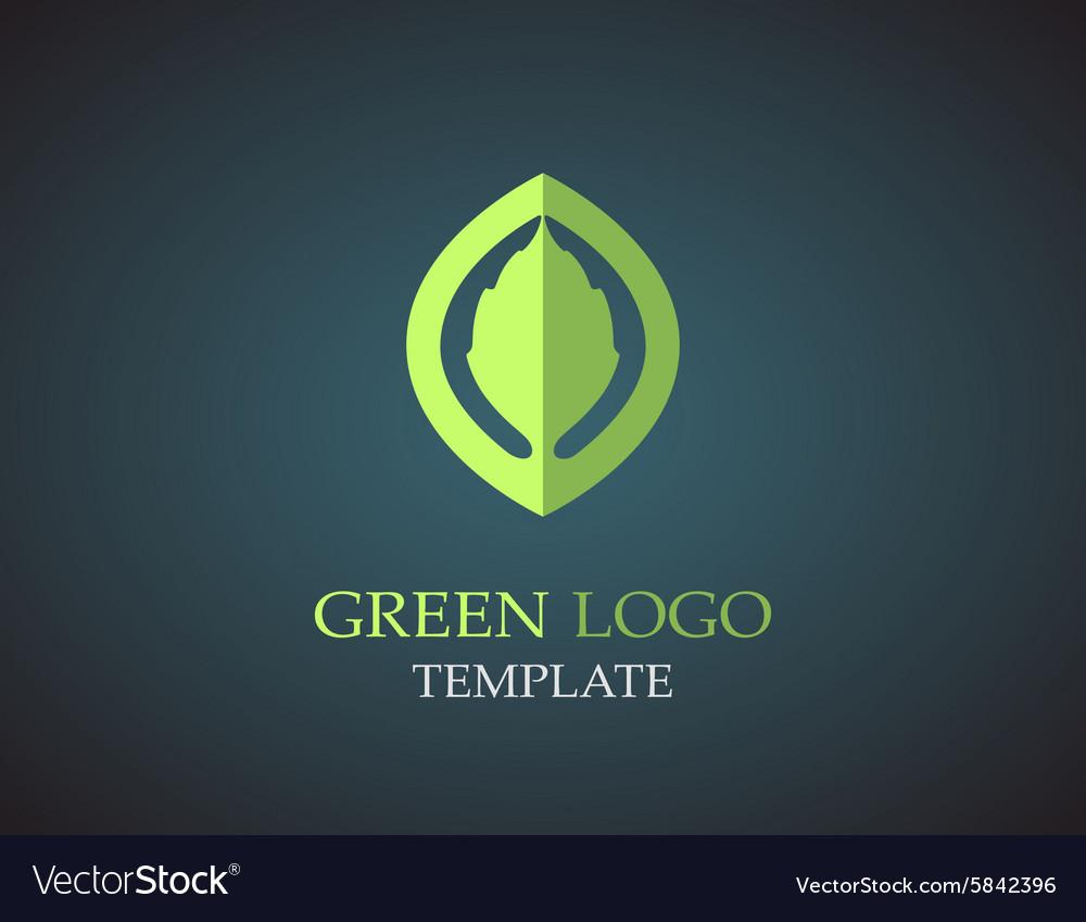 Eco green leaf logo template Green leaves loop