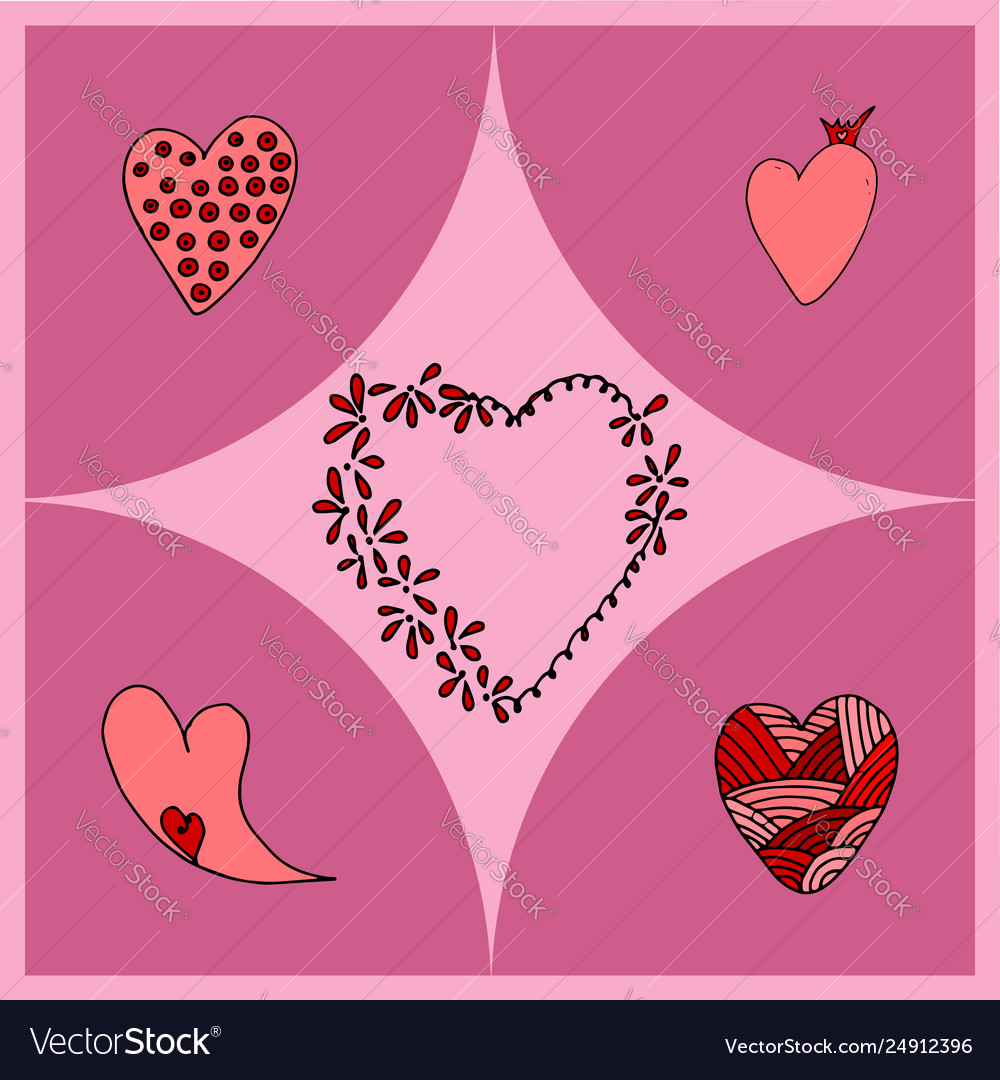 Hearts different shapes