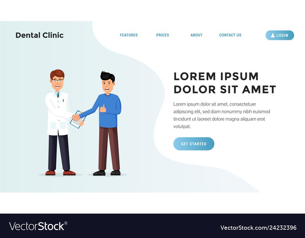 Medical landing webpage