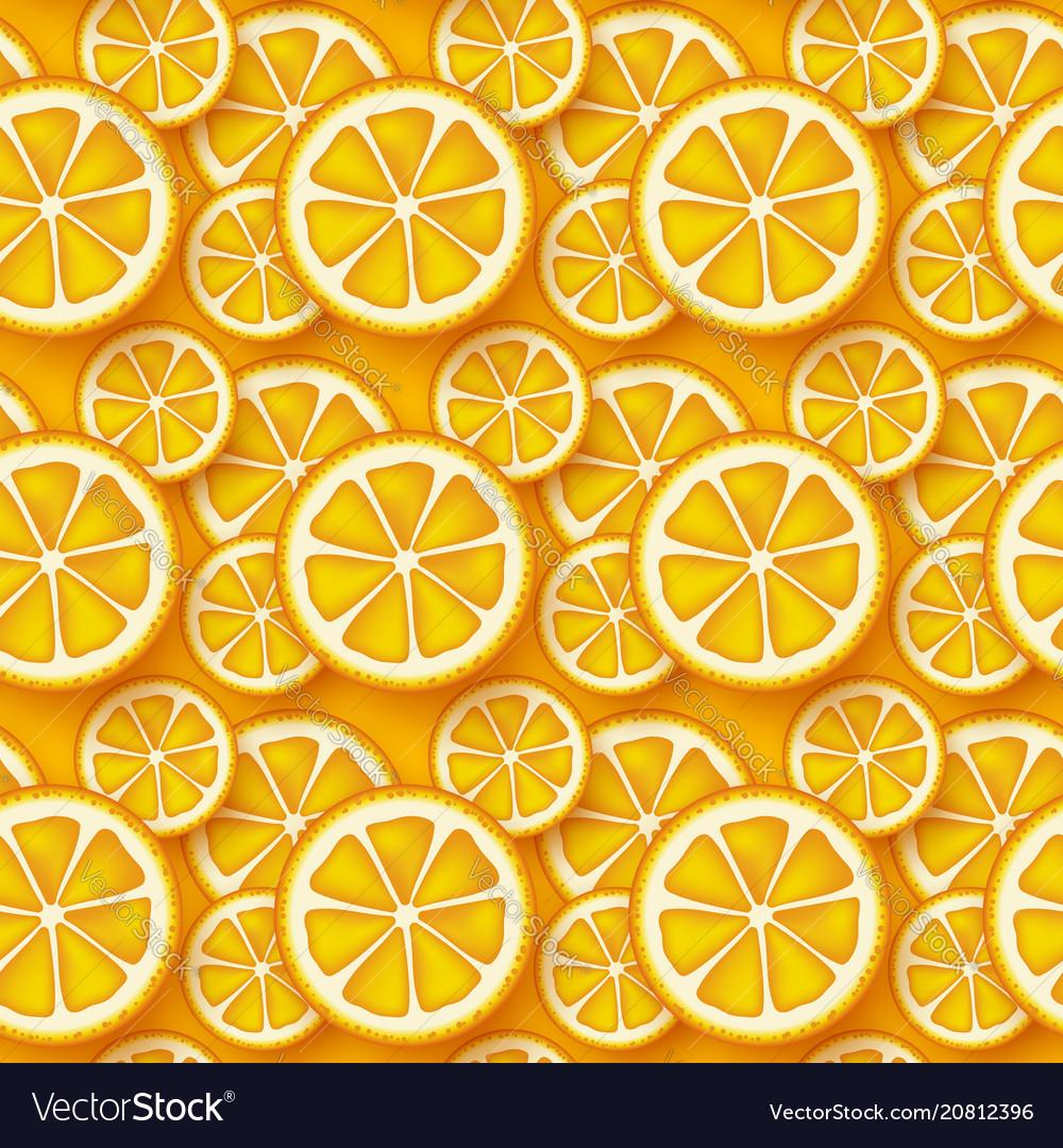 Orange fruit seamless pattern
