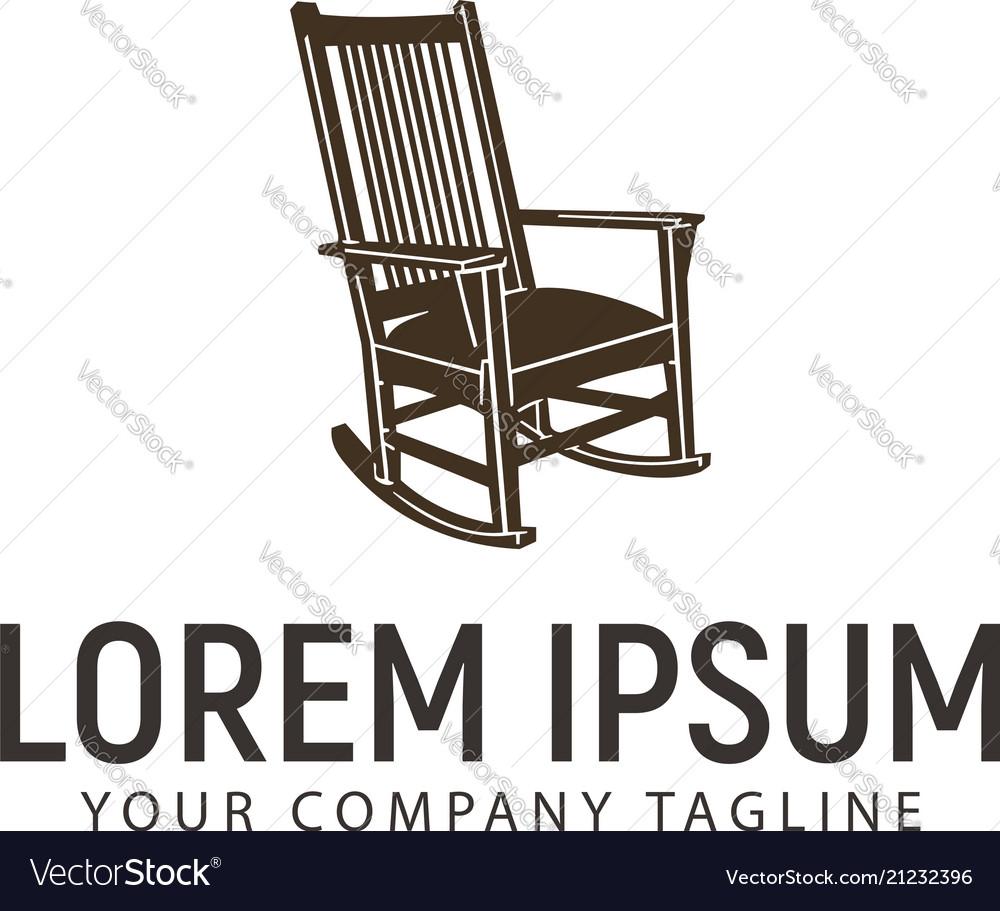 Rocking chair logo design concept template Vector Image