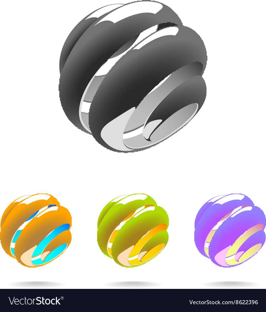 Set of Abstract Globe vector image