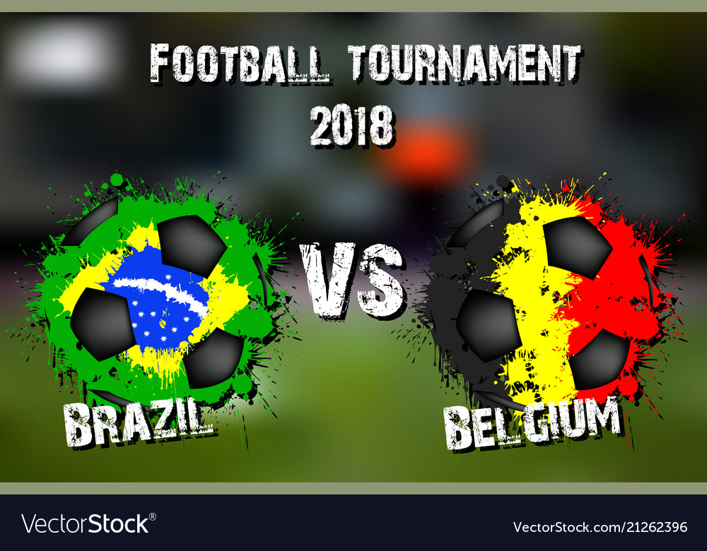 8268f86b9 Soccer game brazil vs belgium Royalty Free Vector Image