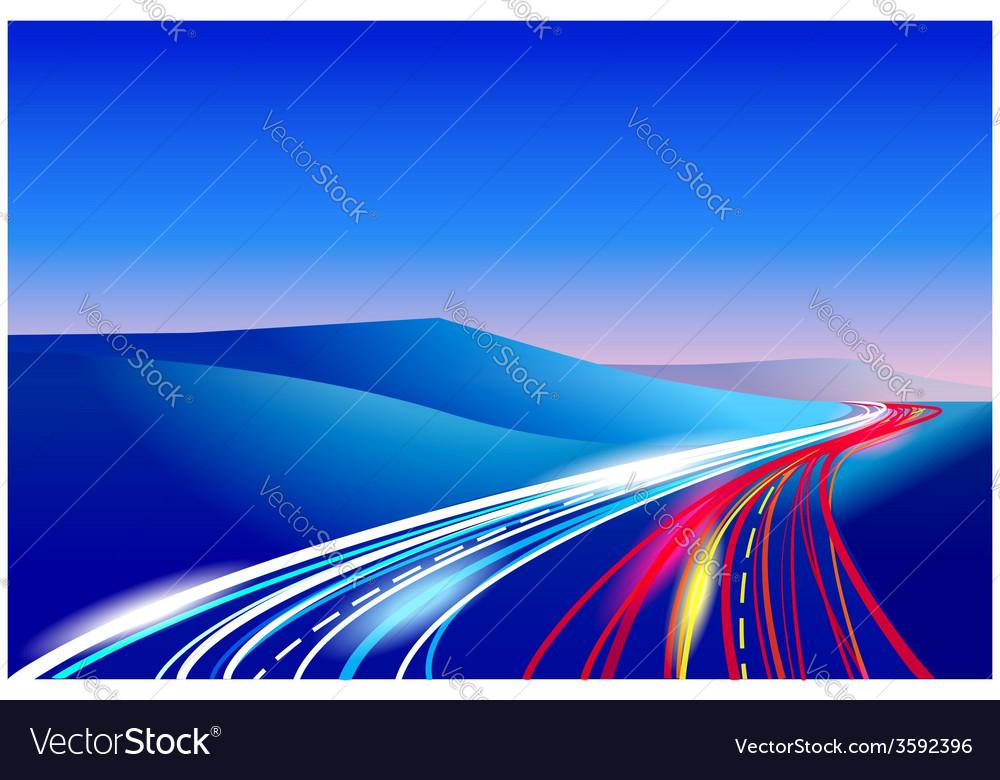 Ways vector image