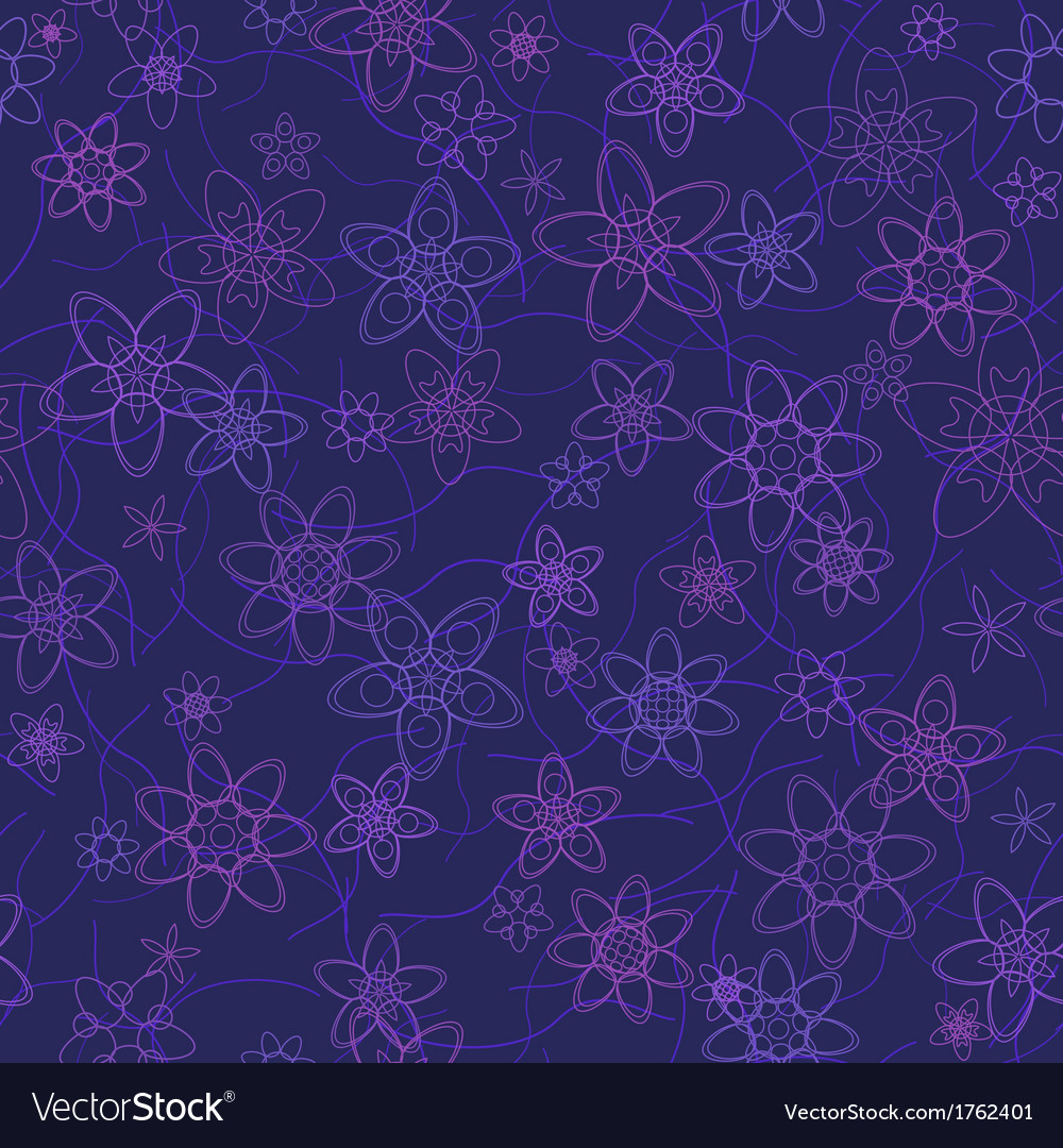 Abstract flowers floral violet seamless background