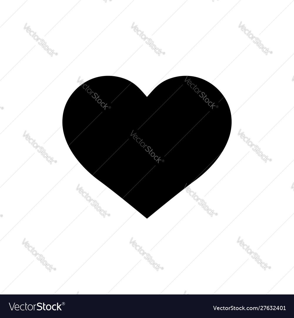 Black heart shape on isolated backgroundlike icon