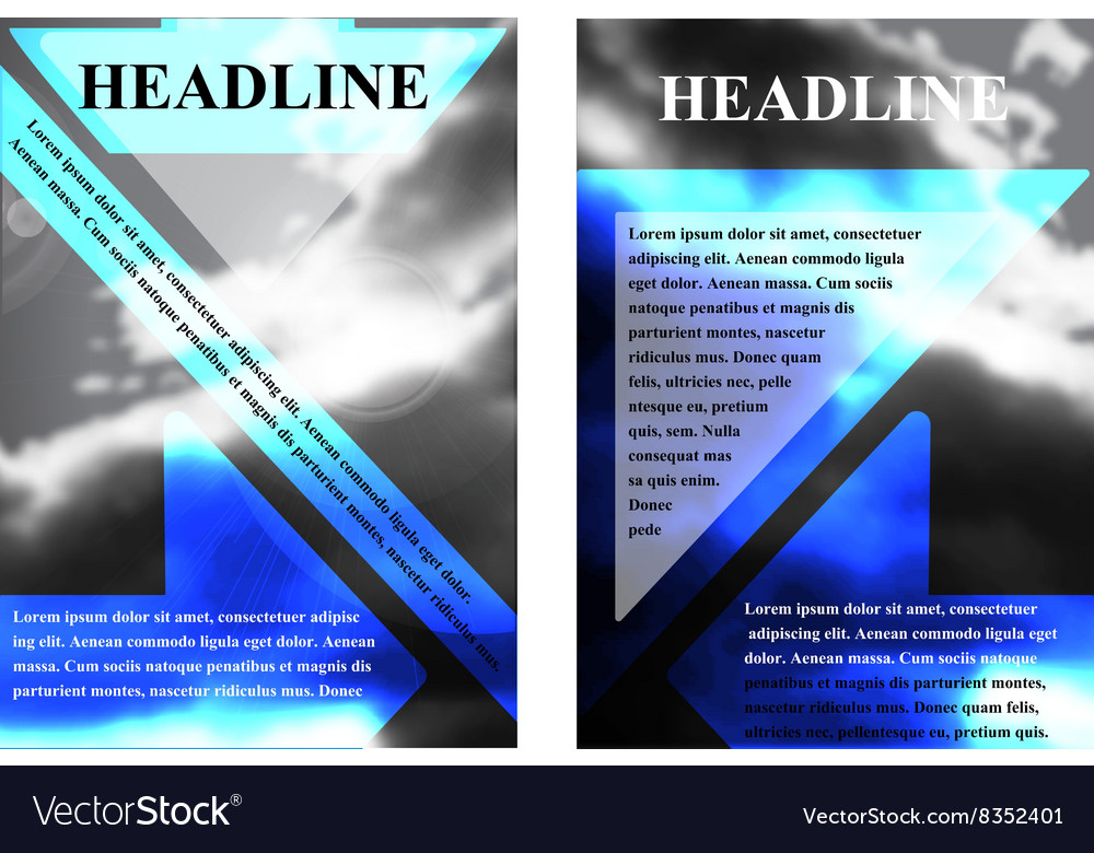 Brochure template with a background cloudy sky