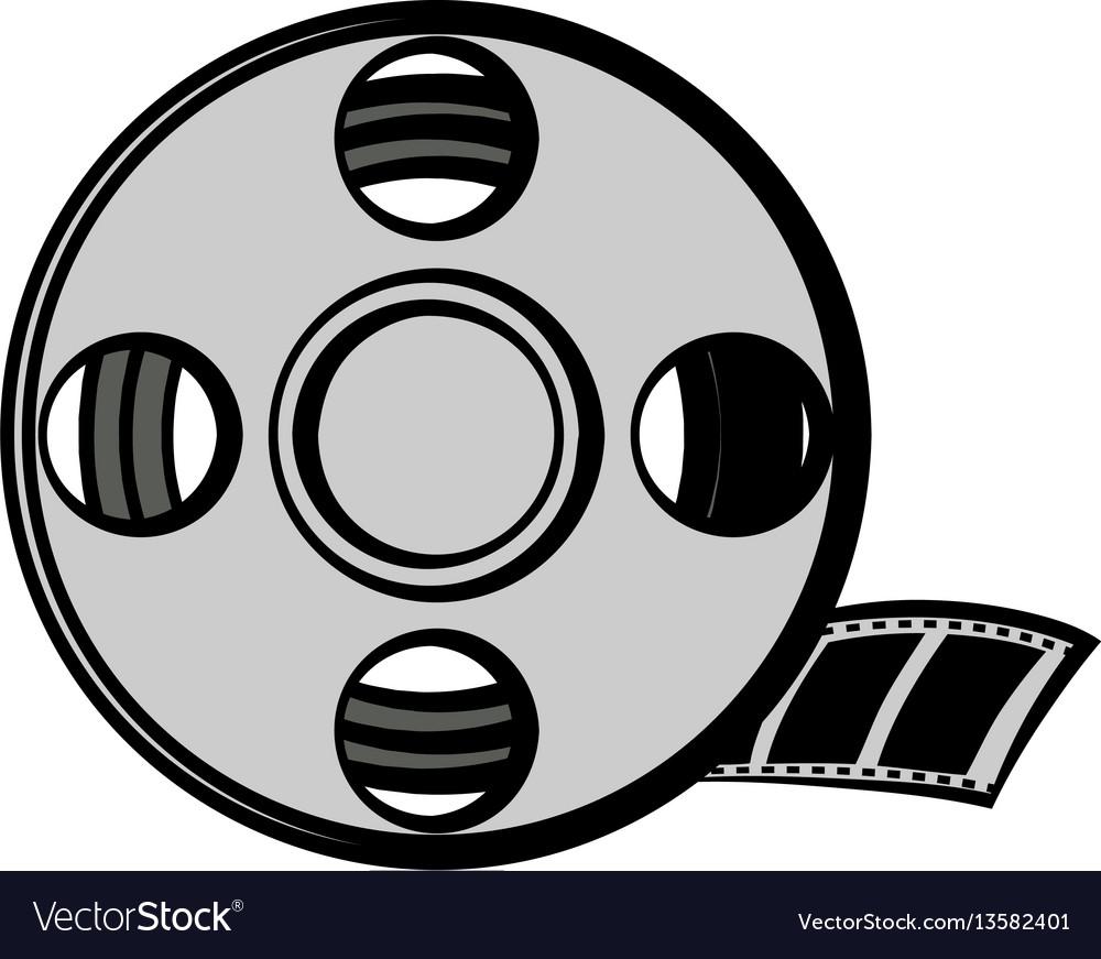 Film reel icon cartoon vector image