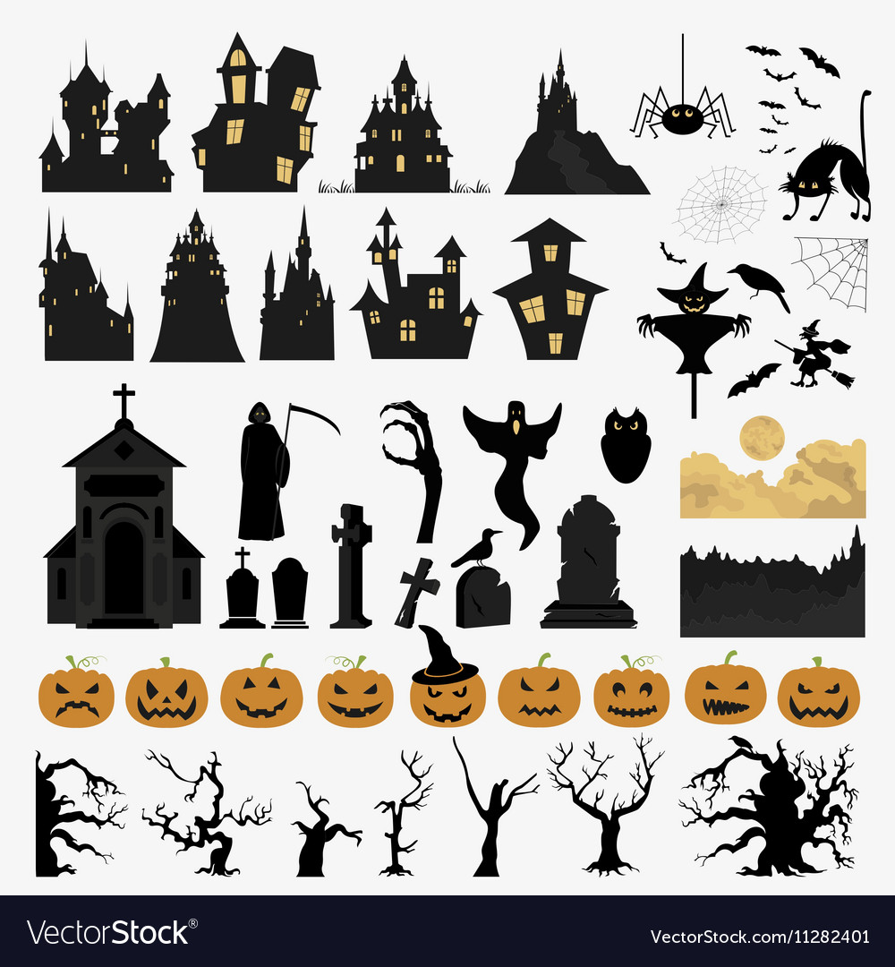 Halloween holiday constructor Graphic template
