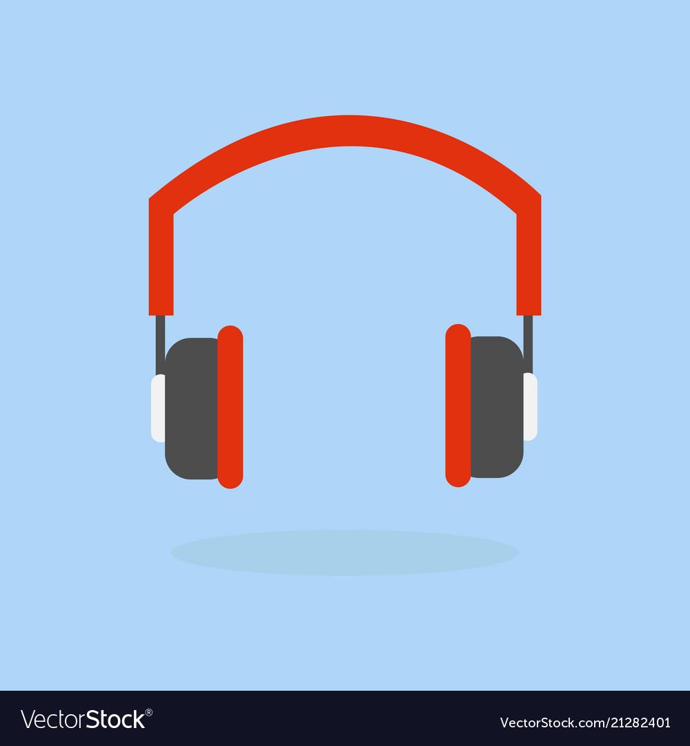 Headphone icon listening to music concept