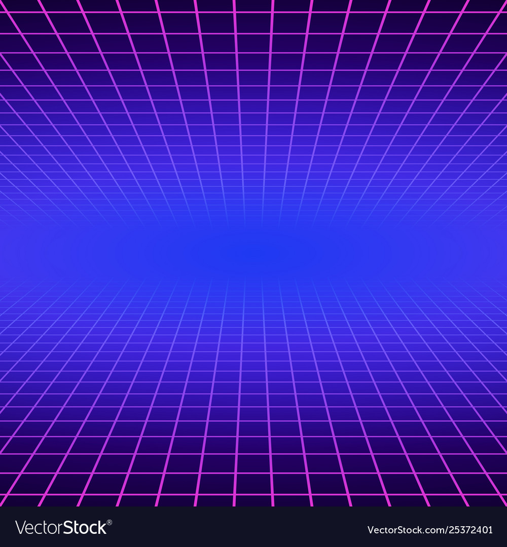 Synth wave retro grid background synthwave 80s