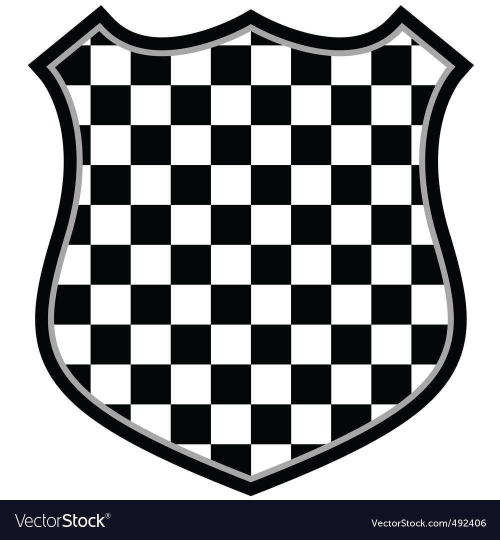Checkered shield