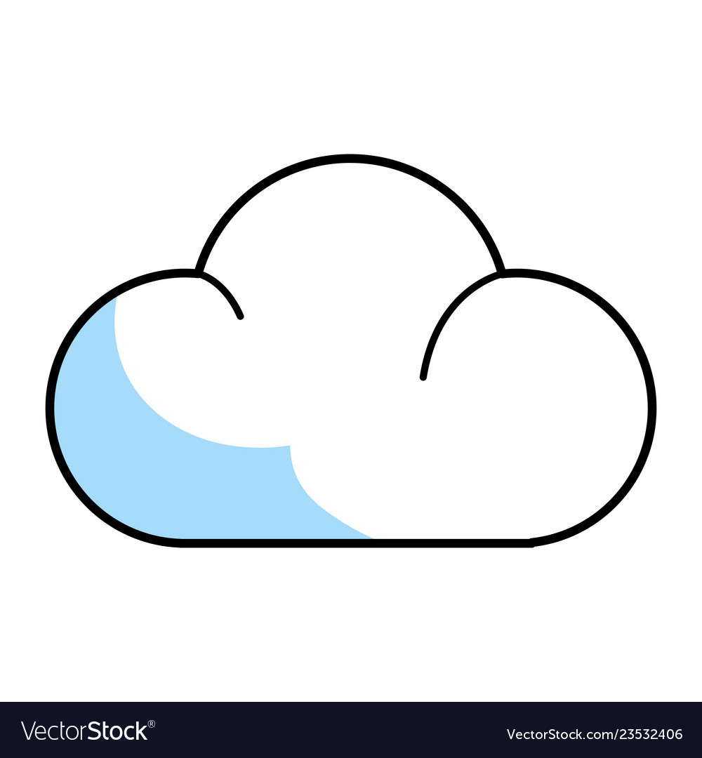 Cloud isolated icon