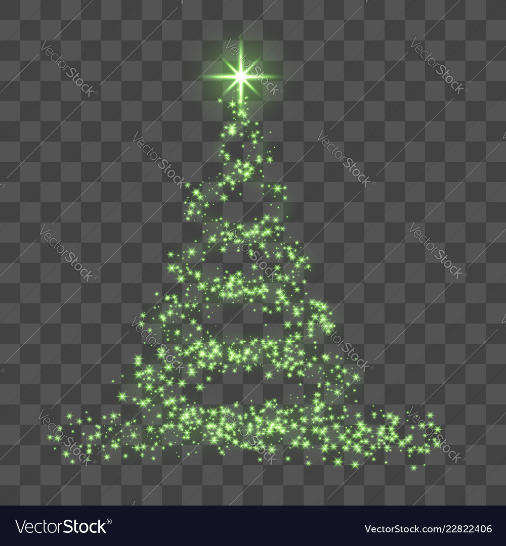 Christmas Tree Transparent Background.Green Christmas Tree On Transparent Background