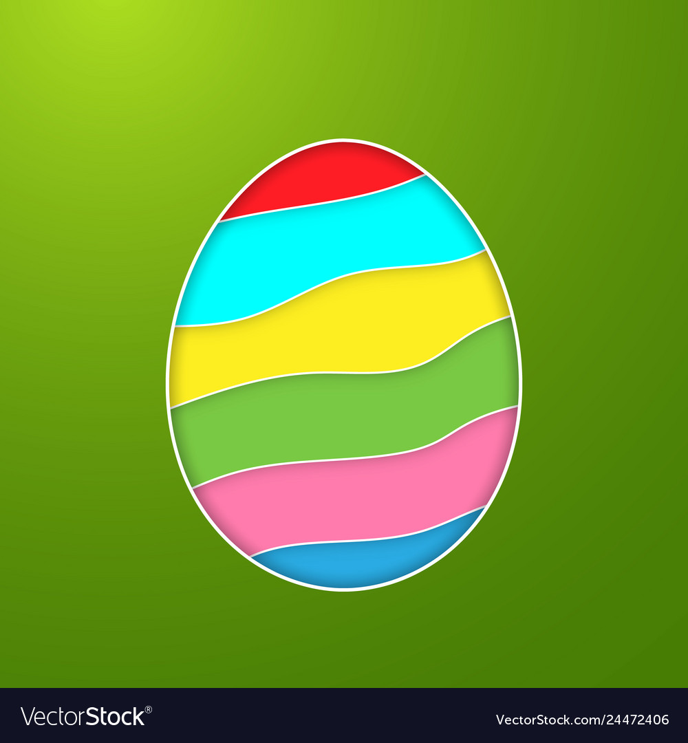 Happy easter greeting card with color paper