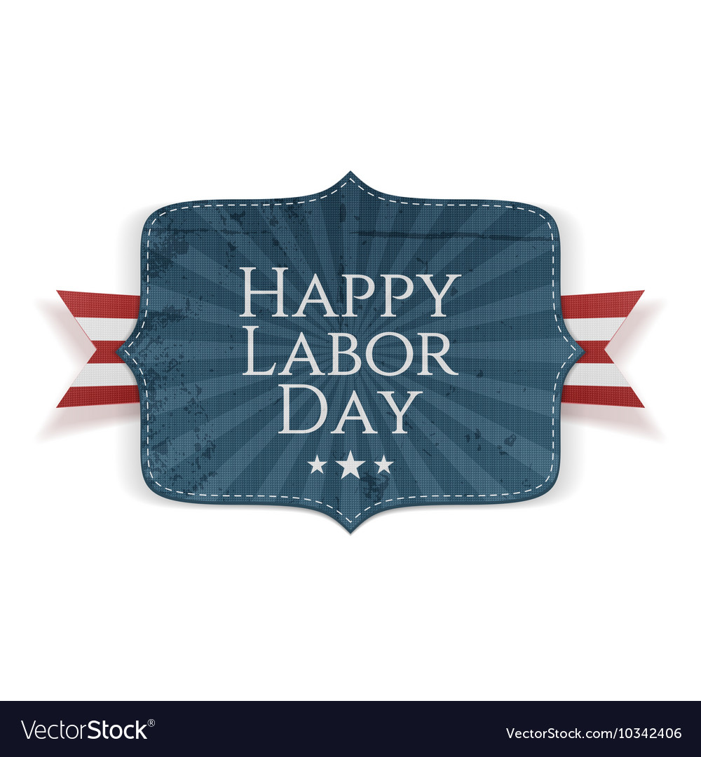Happy Labor Day Text on Banner