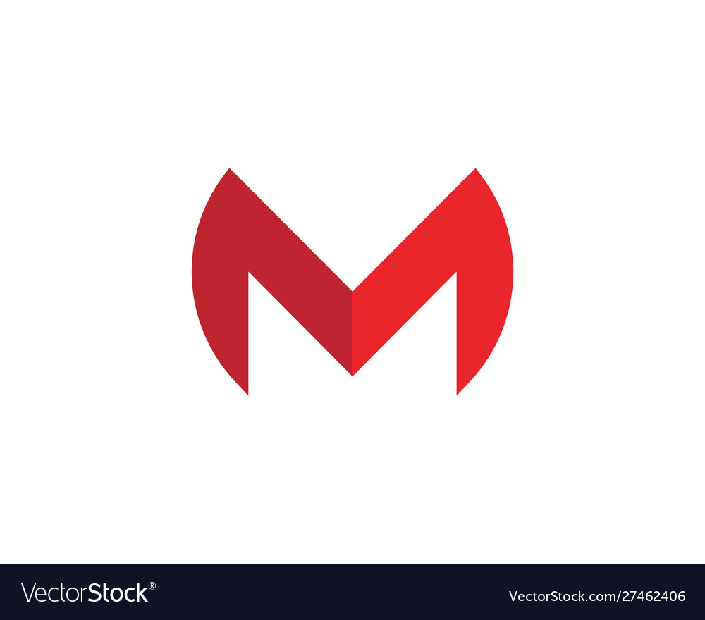 M letter logo template icon