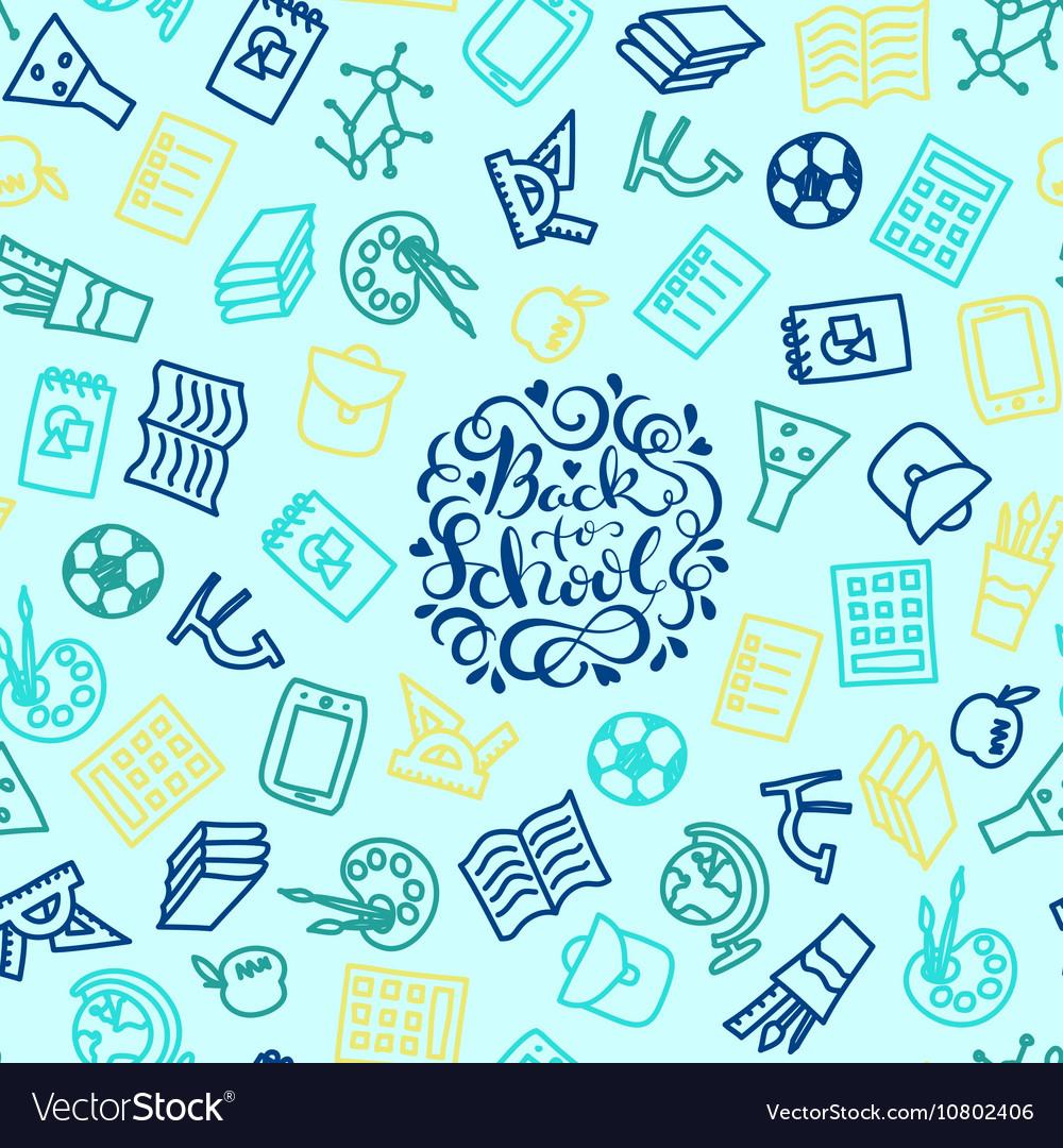 School seamless background