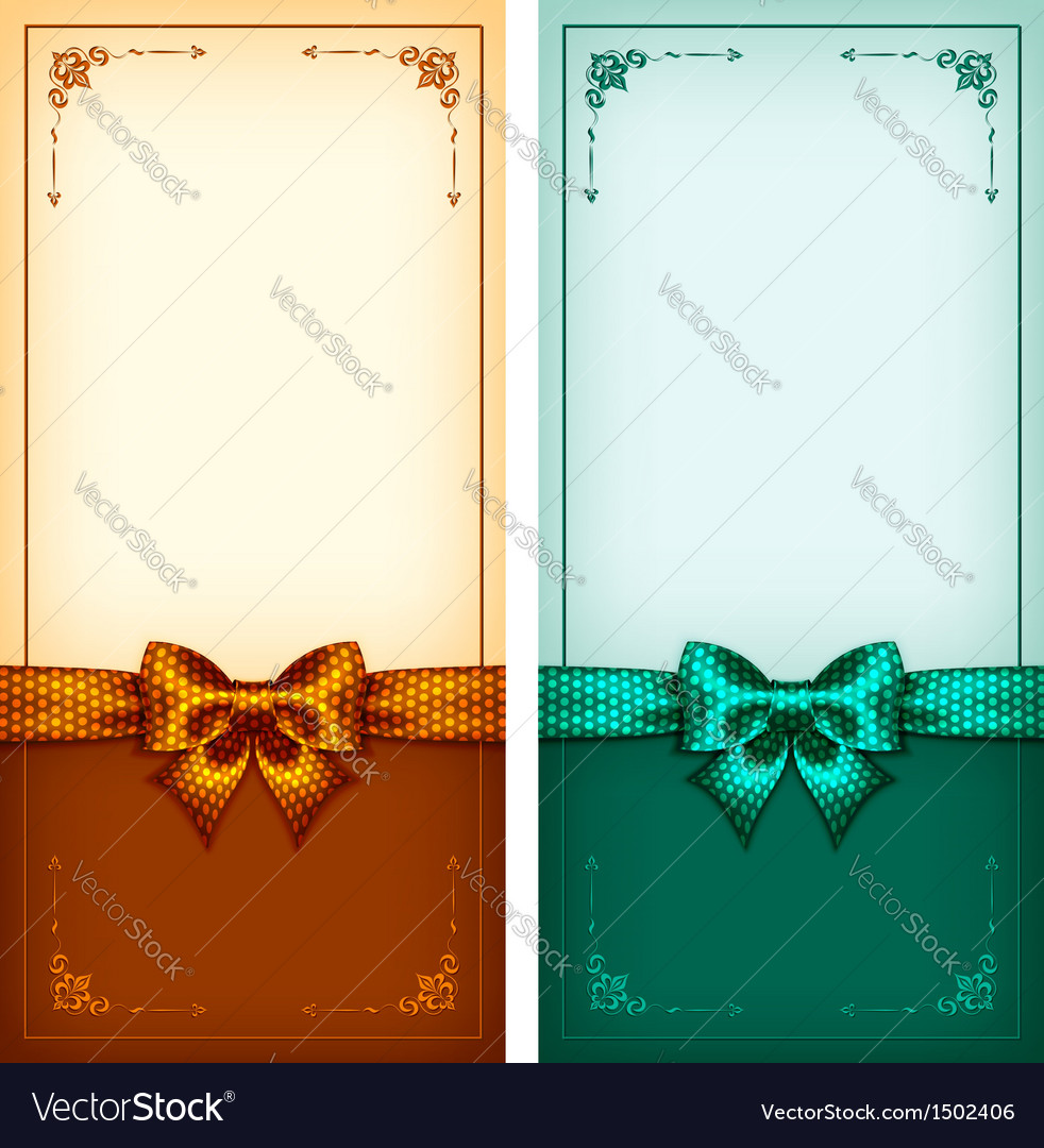 Vintage Greeting Cards Gold And Green Royalty Free Vector